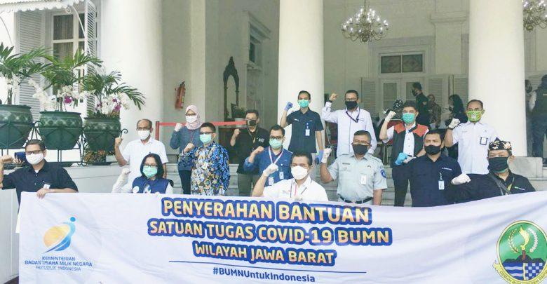 Photo of Jasa Tirta II bersama Satgas Covid-19 BUMN Wilayah Jabar Serahkan Bantuan APD