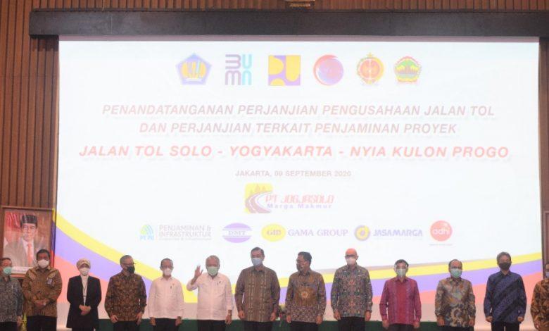 Photo of Konsorsium Swasta-BUMN Teken Pembangunan Jalan Tol Solo-Yogyakarta-NYIA Kulon Progo