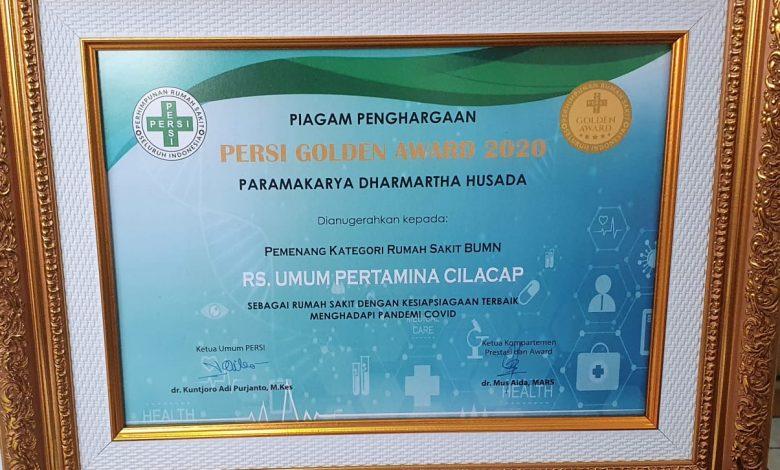 Photo of Terbaik Tangani Covid-19, RS Pertamina Cilacap Raih Penghargaan Persi Golden Award Paramakarya Dharmartha Husada 2020