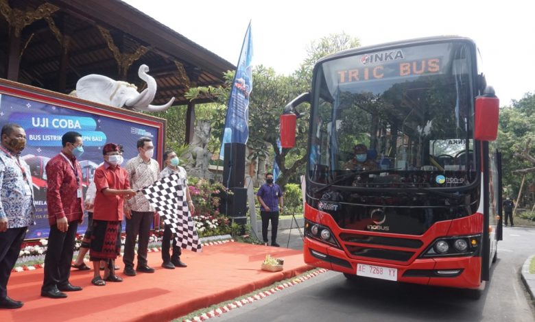 Photo of INKA – Perusda Bali – Perum PPD Uji Coba Transportasi Bus Listrik di Bali